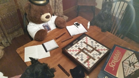 angus and ainsley and mr bear scrabble looking up 1-10-2015 8-13-42 PM